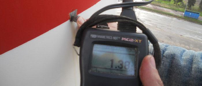 Controllo endoscopico - Controllo spessimetrico sulla ciminiera di una centrale termoelettrica