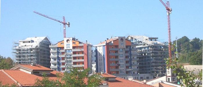 Controllo ultrasonoro su calcestruzzo - Complesso residenziale in costruzione
