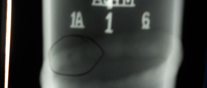 Controllo radiografico - Radiografia industriale con tecnica ellittica