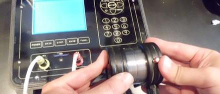 Metodo ultrasonoro - Calibrazione dell'apparecchio