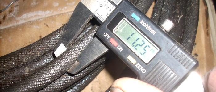Verifiche decennali - Controllo del diametro delle funi