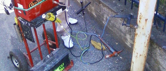 Controllo della corrosione con tecnica LPR - Esecuzione controllo LPR su palo