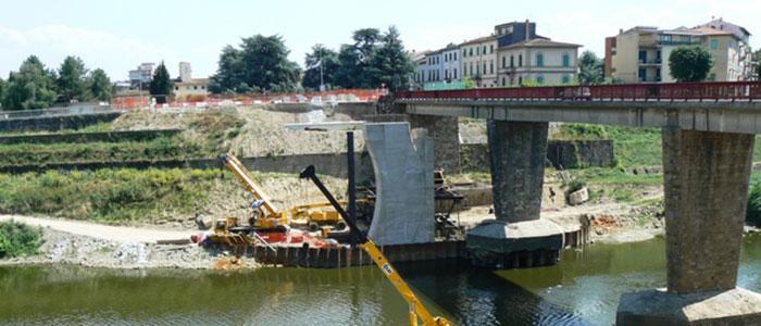 Controllo ultrasonoro su calcestruzzo - Costruzione ponte stradale