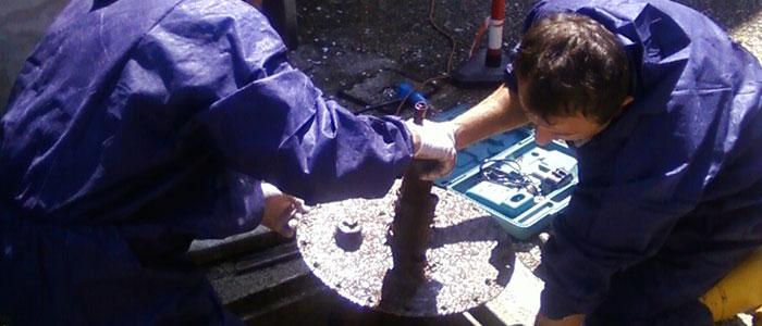Prove a pressione - Prova a pressione su cisterna per gasolio interrata