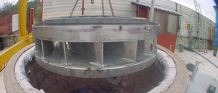 Trattamenti termici in forno - Trattamento termico di distensione su girante