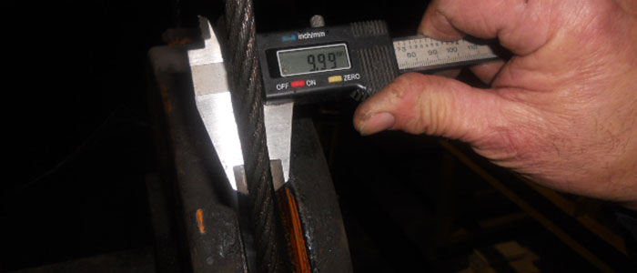 Controlli dimensionali - Verifica diametro di una fune